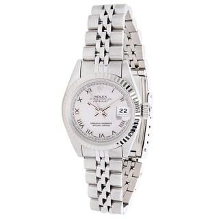 Rolex Datejust 69174 Women's Watch in 14K White Gold & Stainless Steel