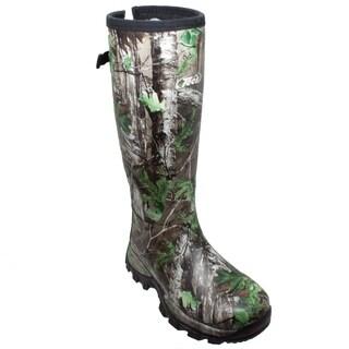"Men's 17"" RealTree XTRA Rubber Boot Camo Green"