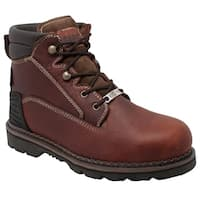 "Men's 6"" Steel Toe Work Boot Brown"