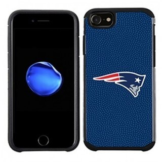 NFL Licensed Slim Hybrid Texture Case for Apple iPhone 6 / 6S - Retail Packaged - New England Patriots
