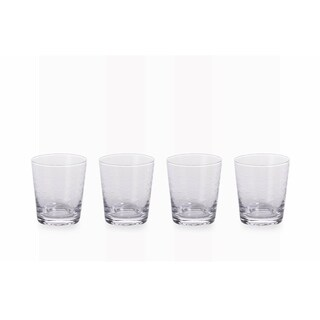 """Keely Fish Cut"" 4"" Tall Old Fashioned Glass (Set of 4)"