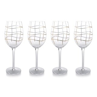 """""""Groove"""" 10"""" Tall Wine Glass (Set of 4)"""