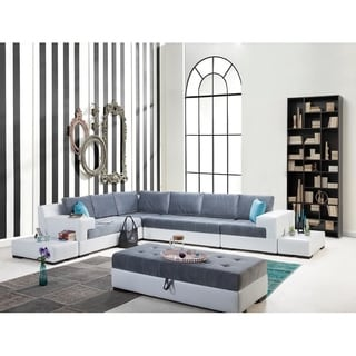 Perla Furniture Luna Collection Euro-Americana chic living room sectional