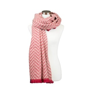Womens Chevron Line Pattern Design Reversible Cold Weather Fall Winter Shawl Scarf