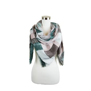 Womens Floral Multi Color Printed Elegant and Soft Viscose Square Scarf