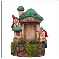 SINTECHNO SNF91149-3 Cute Gnomes with Water Fountain
