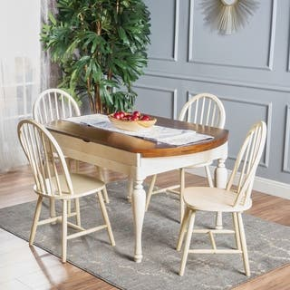 Oakdale 5-Piece Wood Dining Set with Drop Leaf Extension by Christopher Knight Home|https://ak1.ostkcdn.com/images/products/17156799/P23420581.jpg?impolicy=medium