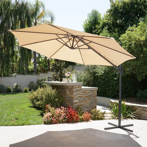 Piazza Outdoor 11.50-foot Canopy Umbrella by Christopher Knight Home