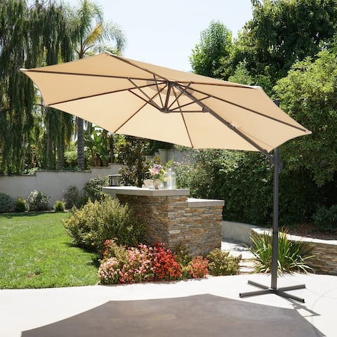 Piazza 9.7 Ft. Outdoor Modern Banana Sun Canopy by Christopher Knight Home