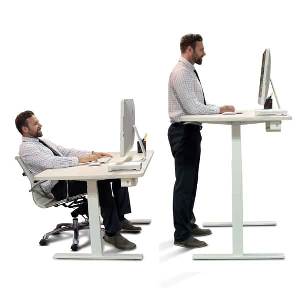 Shop Autonomous Smartdesk Height Adjustable Standing Desk Single Motor Diy Frame Table Top Not Included Overstock 17156867