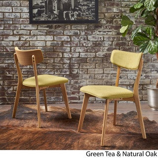 Chazz Mid-century Fabric Dining Chair by Christopher Knight Home (Set of 2)
