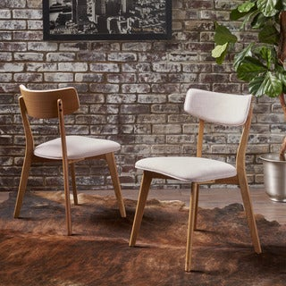 Chazz Mid-Century Fabric Dining Chair (Set of 2) by Christopher Knight Home