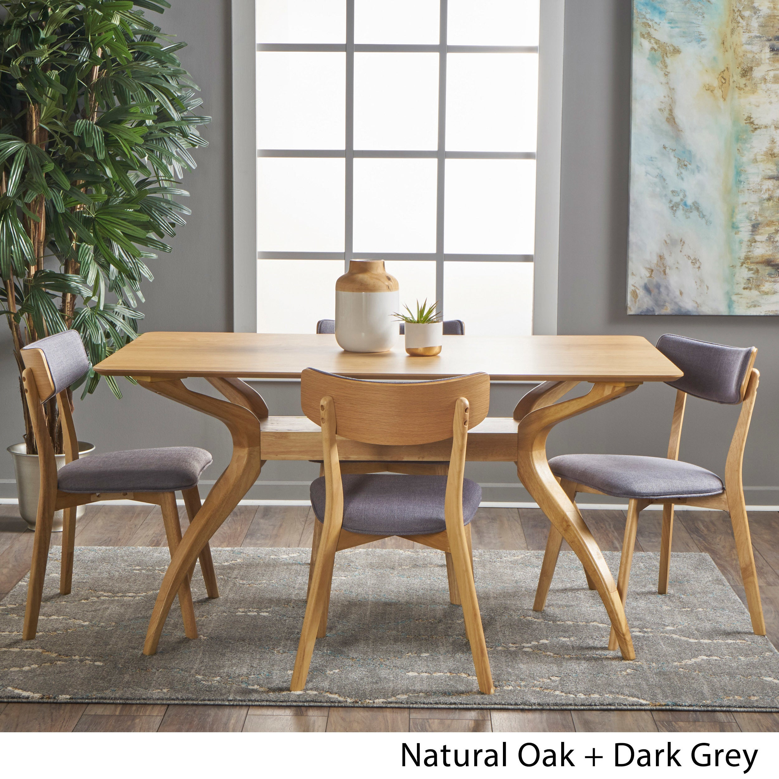 Nissie Mid Century 5 Piece Dining Set By Christopher Knight Home On Sale Overstock 17156874
