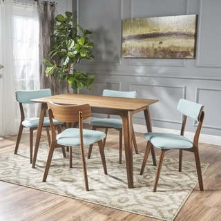 Link to Megann Mid-Century 5-piece Wood Rectangle Dining Set by Christopher Knight Home Similar Items in Bedroom Furniture