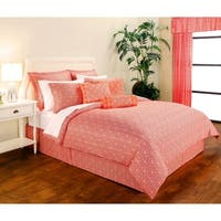 Decorative Voyagers Byzantine Collection Coral Floral Duvet Cover Set