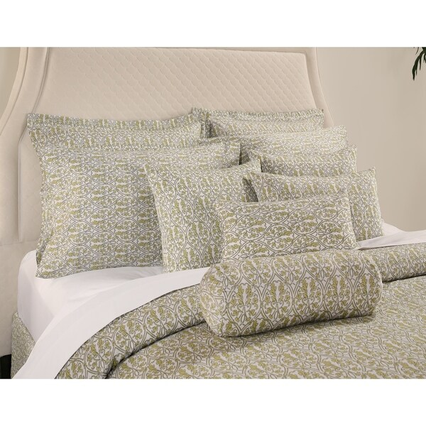 Decorative Voyagers Byzantine Collection Green Delphine Duvet Cover Set