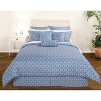 Decorative Voyagers Byzantine Collection Blue Medallion Duvet Cover Set