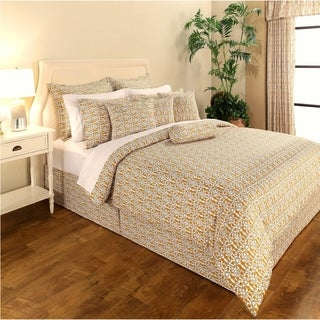 Decorative Voyagers Byzantine Collection Gold Delphine Duvet Cover Set