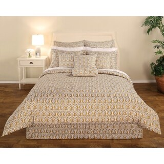 Decorative Voyagers Byzantine Collection Gold Delphine Comforter Set