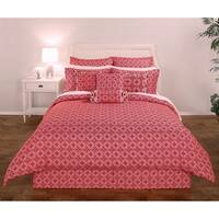 Decorative Voyagers Byzantine Collection Cherry Medallion Comforter Set