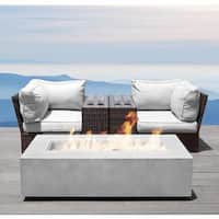 Living Source International Lucca Grey Aluminum and Wicker 5-piece Cup Table Fire Pit Set