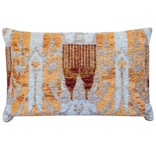 Handmade Chenille Ikat Throw Pillow