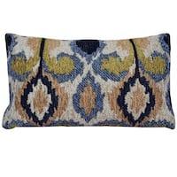 Herat Oriental Indo Handmade Chenille Ikat Throw Pillow