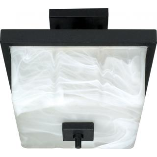 """Cubica - 2 Light - 12"""" - Semi-Flush - with Alabaster Glass https://ak1.ostkcdn.com/images/products/17158363/P23421786.jpg?impolicy=medium"""