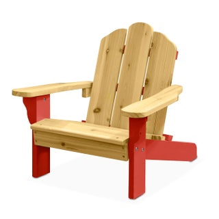 Kids 2 Tone Adirondack Outdoor Chair (Option: Red)
