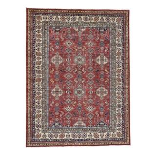 1800getarug Red Super Kazak Hand-Knotted Pure Wool Oriental Rug (8' x 10')