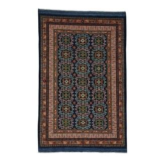 1800getarug Hand-Knotted Pure Wool Afghan Ersari Elephant Feet Design Rug (6' x 9')