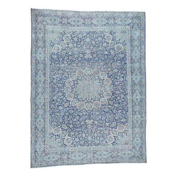 Shop Shahbanu Rugs Kerman White Wash Pure Wool Hand Knotted Persian