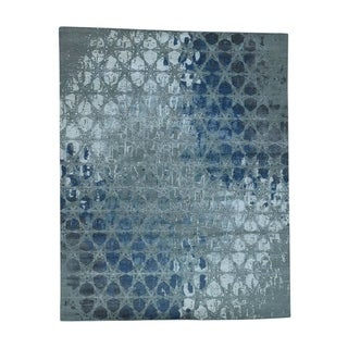 1800getarug Award Winning Honeycomb Design Wool and Silk Oriental Rug (8' x 10')