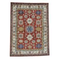 Shahbanu Rugs Super Kazak Red Hand-Knotted Pure Wool Oriental Rug (8' x 11')