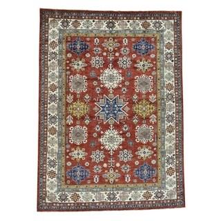 1800getarug Super Kazak Red Hand-Knotted Pure Wool Oriental Rug (8' x 11')