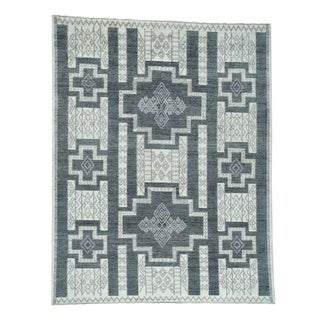 1800getarug Hand-Knotted Pure Wool Peshawar with Southwest Motifs Rug (10' x 14')