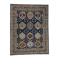 Shahbanu Rugs Peshawar Antiqued Heriz Hand-Knotted Pure Wool Oriental Rug (9' x 12')