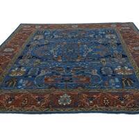 Shahbanu Rugs Antiqued Bidjar Garus Design Hand-Knotted Pure Wool Rug (8' x 10')