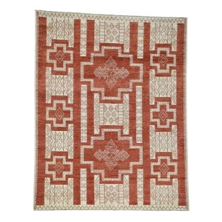 1800getarug Pure Wool Hand-Knotted Peshawar with Southwest Motifs Rug (10' x 13')