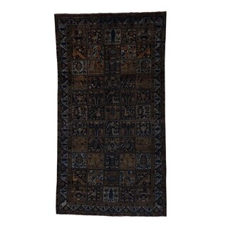 1800getarug Hand-Knotted Wool Persian Bakhtiari Overdyed Wide Runner Rug (5' x 9')