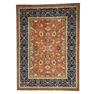 1800getarug Hand-Knotted Pure Wool Peshawar with Heriz Design Oriental Rug (10' x 14')