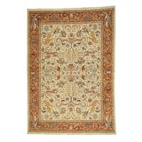 Shahbanu Rugs Hand-Knotted Pure Wool Peshawar Hunting Design Oriental Rug (10' x 14')