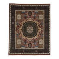 Shahbanu Rugs Peshawar with Mamluk Design Hand-Knotted Pure Wool Oriental Rug (8' x 10')