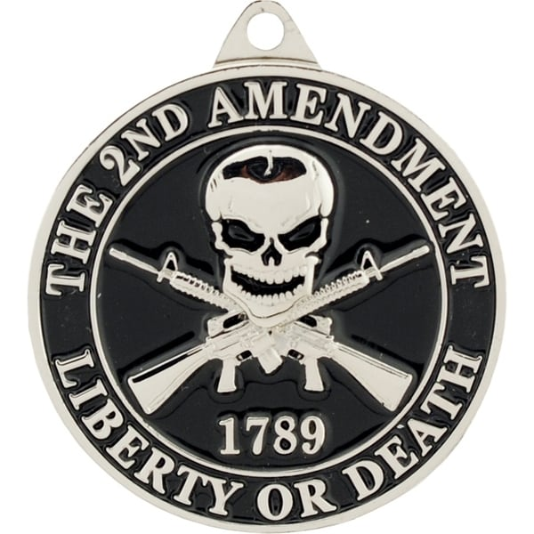 2nd Amendment Liberty or Death 1789 Key Ring