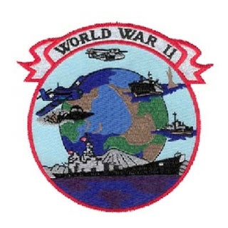World War II Logo Small Embroidered Military Patch