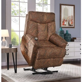 ProLounger Paisley Wall Hugger Power Lift Recliner Chair