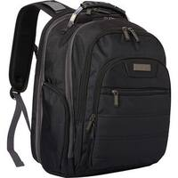 Kenneth Cole Reaction Black Dual Compartment Checkpoint-friendly EZ-Scan 17-inch Laptop Backpack