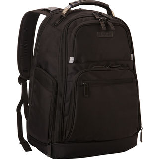 Kenneth Cole Reaction Black Dual-compartment Expandable Laptop Backpack