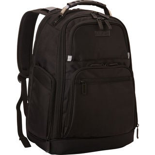 Kenneth Cole Reaction Black Dual-compartment Expandable 17-inch Laptop Business Backpack