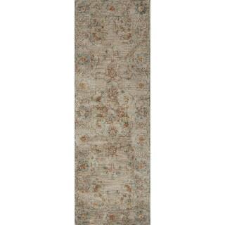 Elizabeth Sand/ Multi Floral Rug (2'6 x 7'6)